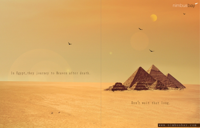 Egypt ad for a made-up travel agency